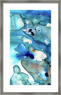 Blue Art - The Meaning Of Life - Sharon Cummings Framed Print by Sharon Cummings