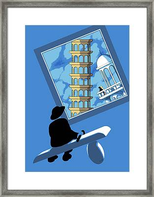 Blue Arthur Framed Print by Tom Dickson