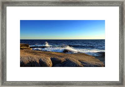 Blue Atlantic Framed Print