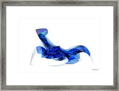 Blue Attitude Framed Print by Thibault Toussaint