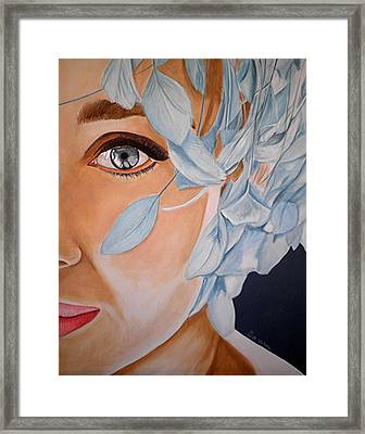 Blue Audrey Framed Print by Al  Molina