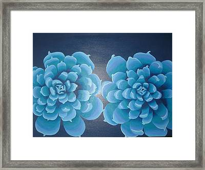 Blue Autum Framed Print by Sarah England-Rocca
