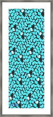 Blue Avalanche Framed Print by Steamy Raimon