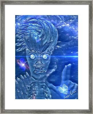 Blue Avian Framed Print