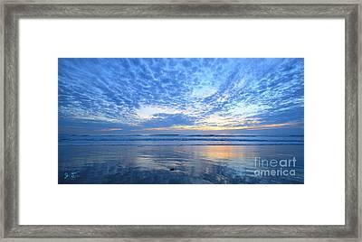 Beach Home Blues Framed Print