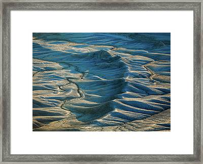 Framed Print featuring the photograph Blue Badlands by Johnny Adolphson