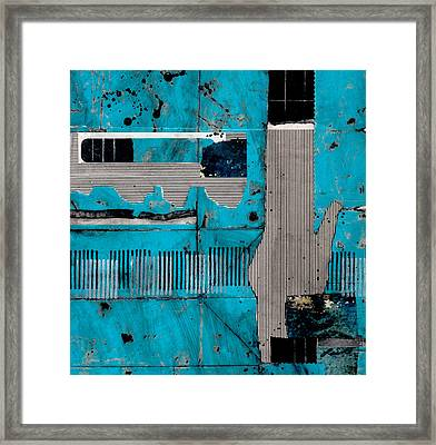 Blue Bag Ditty  Framed Print by Laura  Lein-Svencner