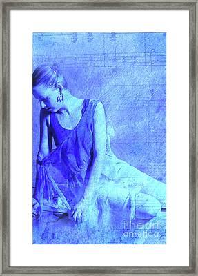 Blue Ballerina  Framed Print