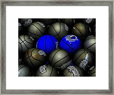 Blue Balls Framed Print by Ed Smith