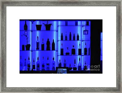 Blue Bar Framed Print by Clayton Bruster