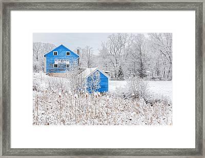 Blue Barns Framed Print by Bill Wakeley