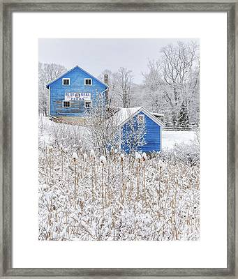 Blue Barns Portrait Framed Print by Bill Wakeley