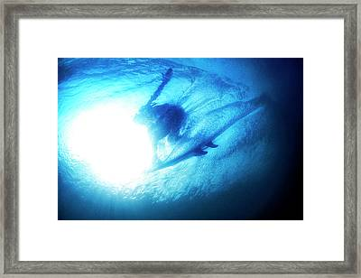 Blue Barrel Framed Print