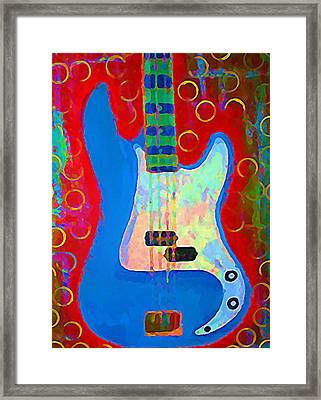 Blue Bass Framed Print