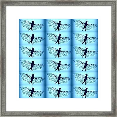 Blue Bats Framed Print by Cathy Jacobs