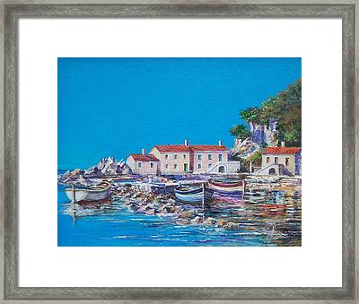 Blue Bay Framed Print