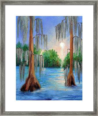 Blue Bayou Framed Print by Ginger Concepcion