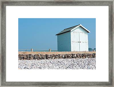Blue Beach Hut Framed Print