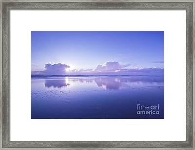 Blue Beach Framed Print by Masako Metz