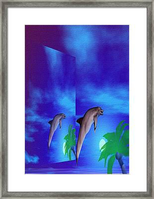 Blue Beauty Within Framed Print by Thelma Hendrix