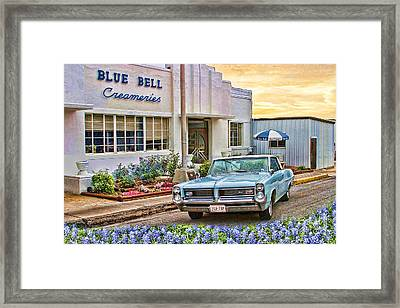 Blue Bell, Bluebonnets, And My Grand Prix Framed Print