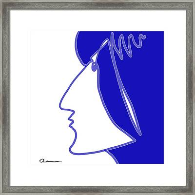 Blue Belle Framed Print