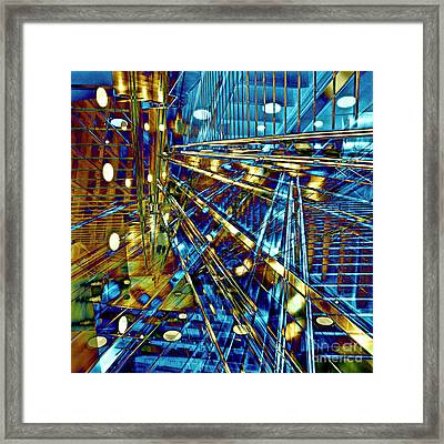 Blue Berlin Sound Framed Print
