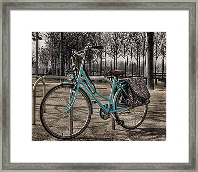 Blue Bicycle Framed Print by Martin Newman