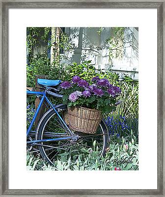 Blue Bike Framed Print
