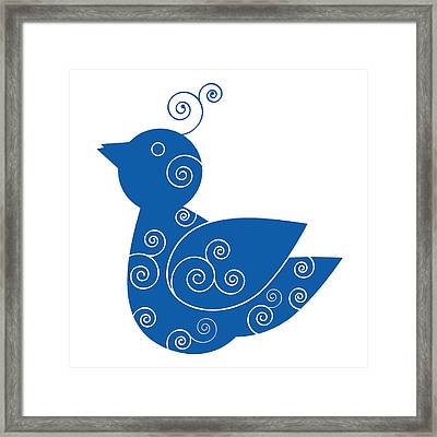 Blue Bird Framed Print by Frank Tschakert