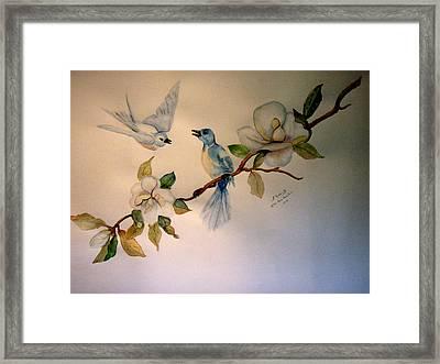 Blue Birds Framed Print by Bobbie Roberts