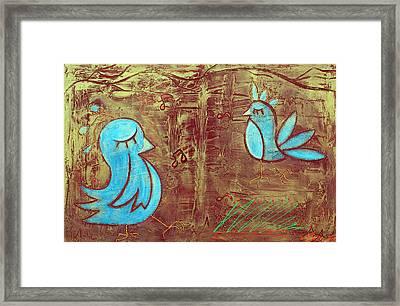 Blue Birds Framed Print by Laura Barbosa