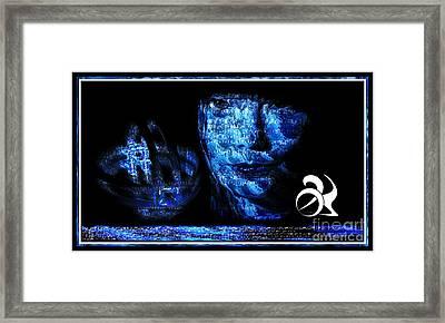 Blue Bjork Framed Print