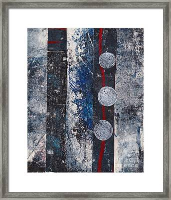 Blue Black Collage Framed Print