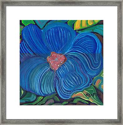 Framed Print featuring the painting Blue Blilliance by John Keaton