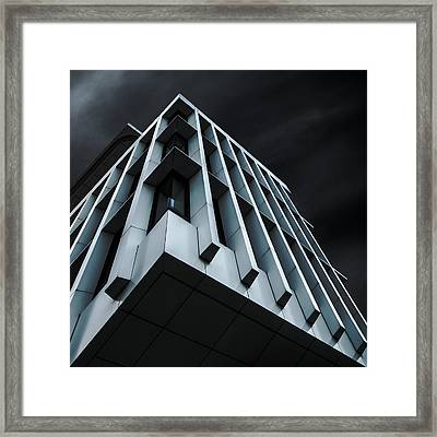 Blue Bloc Framed Print by Gilbert Claes