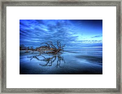 Blue Blue Morning Framed Print by Debra and Dave Vanderlaan