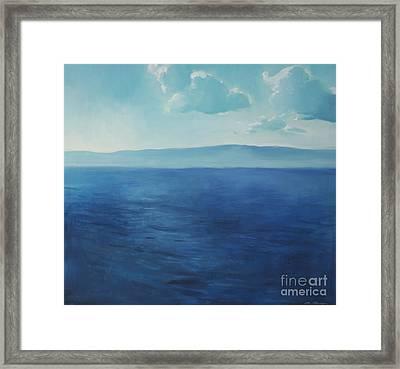 Blue Blue Sky Over The Sea  Framed Print