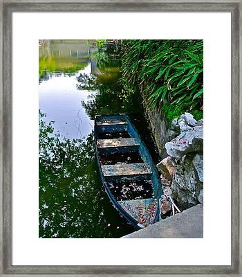 Blue Boat Framed Print by Dorota Nowak