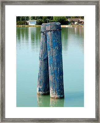 Blue Boat Piles Framed Print by Dorothy Berry-Lound