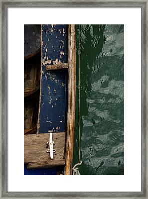 Blue Boat, Venice Framed Print by Art Ferrier