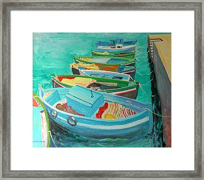 Blue Boats Framed Print by William Ireland