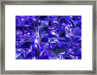 Blue Bottle Bottoms Framed Print by Robert Glover