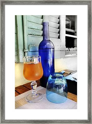 Blue Bottle Framed Print by Martine Affre Eisenlohr