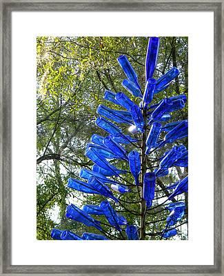 Blue Bottle Tree Framed Print by Warren Thompson