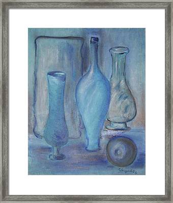 Blue Bottles  Framed Print