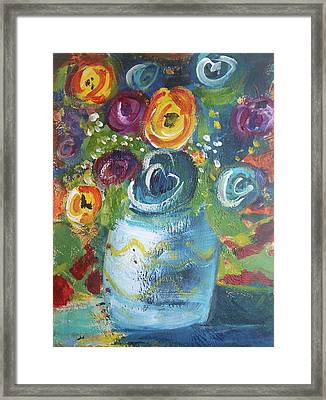 Blue Bouquet Framed Print