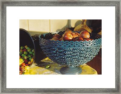 Blue Bowl Framed Print by Jan Amiss Photography