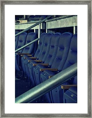 Blue Box Seats Framed Print by JAMART Photography