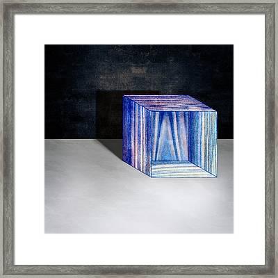 Blue Box Sitting Framed Print by YoPedro